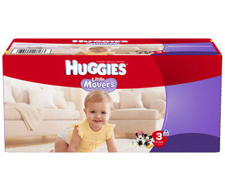 Huggies Little Movers Diapers, Size 3, 112 ea