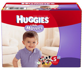 Huggies Little Movers Diapers, Size 5, 84 ea