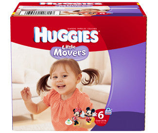 Huggies Little Movers Diapers, Size 6, 72 ea