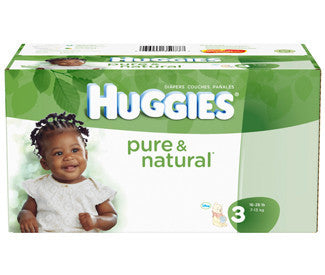Huggies Pure & Natural Diapers, Size 3, 104 ea