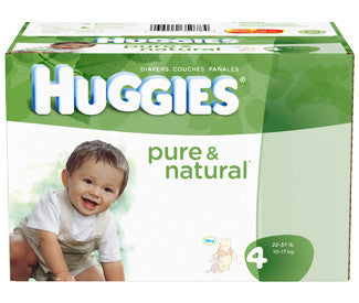 Huggies Pure & Natural Diapers, Size 4, 92 ea