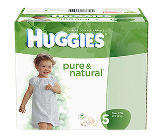 Huggies Pure & Natural Diapers, Size 5, 80 ea