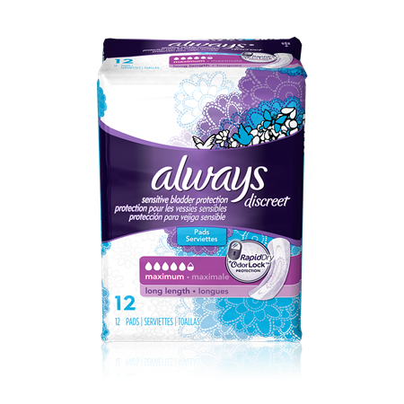 Always Discreet Pads, Maximum, Long, 3 Units x 12 Pads (36 total)