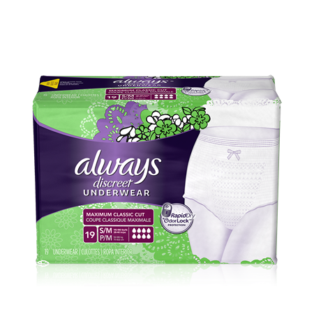 Always Discreet Briefs, Maximum, Small/Medium, 3 Units x 19 ct (57 total)