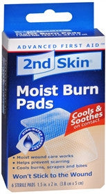 2nd Skin Moist Burn Pads, 1.5 in x 2 in, 6 ea - PlanetRx