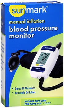 Sunmark Manual Inflation Blood Pressure Monitor