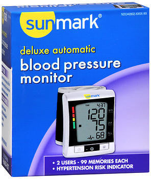 Sunmark Deluxe Automatic Blood Pressure Monitor