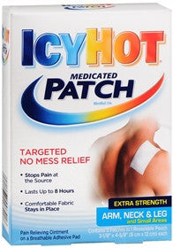 Icy Hot Medicated Patches, Extra Strength, Arm/Neck/Leg, 5 ea