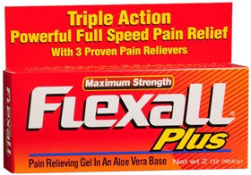 Flexall Plus Maximum Strength Pain Relieving Gel, 2oz