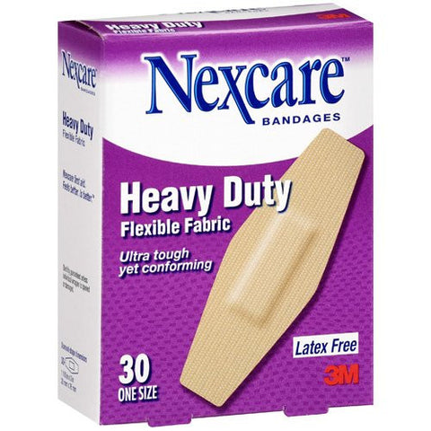 Nexcare Heavy Duty Flex Fabric, Latex Free, 30 bandages
