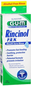GUM Rincinol P.R.N Mouth Sore Rinse, 4 oz