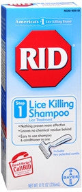 RID Lice Killing Shampoo, Maximum Strength, Step 1, 8 oz