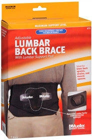Mueller Sport Care Lumbar Back Brace Adjustable, One Size