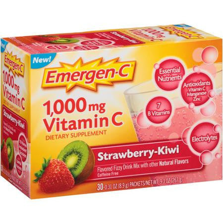 Emergen-C Strawberry Kiwi, 30 packets