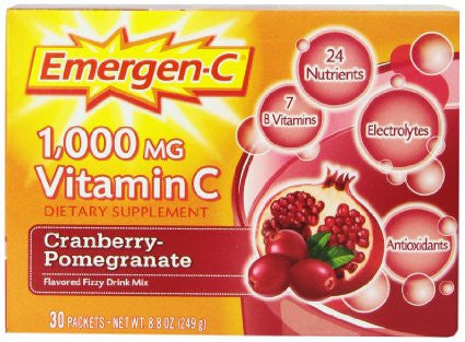Emergen-C Cranberry Pomegranate, 30 packets