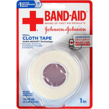 Band-Aid Small Cloth Tape 1in x 10yds