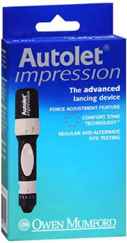 AUTOLET IMPRESSION ADVANCED LANCING DEVICE WITH LANCETS