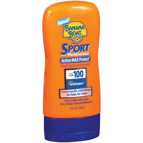 Banana Boat Sport Performance Broad Spectrum Sunscreen,  SPF 100, 4 oz