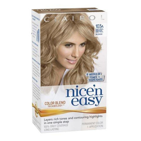Nice'n Easy  Natural Medium, Neutral Blonde No. 103A