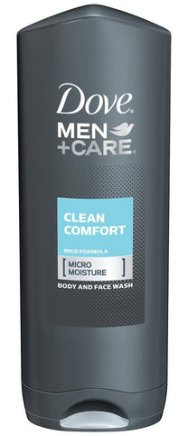 Dove Men+Care Clean Comfort Body & Face Wash, 18 oz