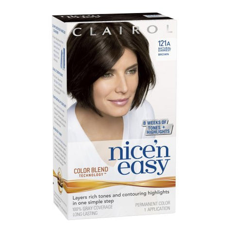 Nice'n Easy   Natural Darkest Brown No. 121A
