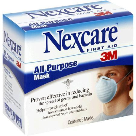 Nexcare All Purpose Mask, 5 ea