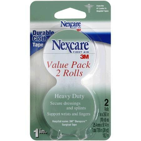 Nexcare Durable Cloth Tape, 1 in x 10 yd, 2 pck Bundle