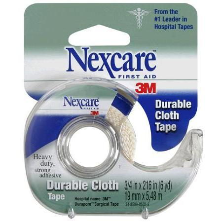 Nexcare Durable Cloth Tape, 3/4 in x 6 yd