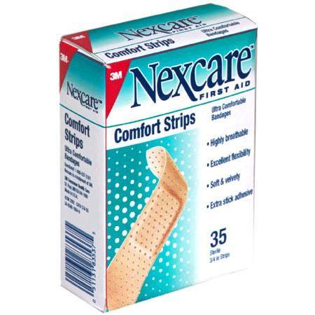 Nexcare Comfort Strips, Ultra Comfortable Bandages