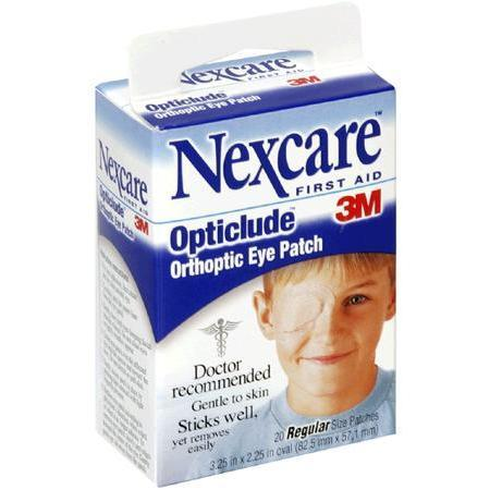 Nexcare Orthoptic Eye Patch, 20 Regular Size patches