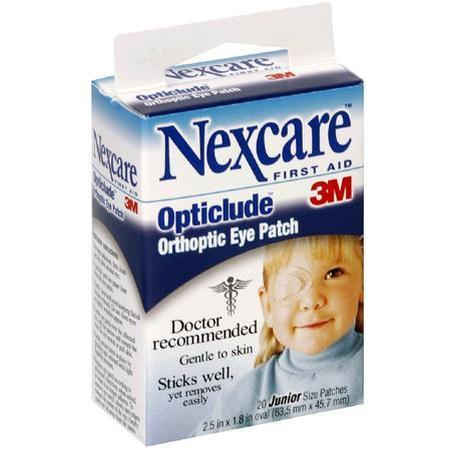 Nexcare Orthoptic Eye Patch, 20 Junior Size patches