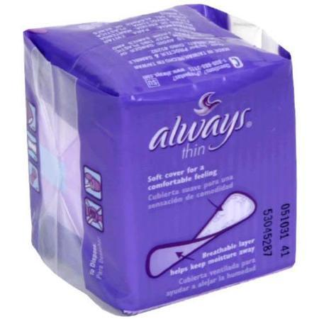 Always Thin Pantiliners, Regular Unscented, 24 Units 20 pad - PlanetRx