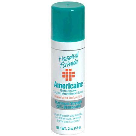 Americaine Hemorrhoidal Benzocaine Topical Anaesthetic Spray, Maximum Strength, 2 oz - PlanetRx