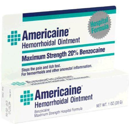 Americaine Hemorrhoidal Hemorrhoidal Ointment, Maximum Strength, 1 oz - PlanetRx