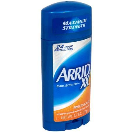 Arrid Anti-Perspirant & Deodorant, Maximum Strength, Solid, Regular, 2.7 oz