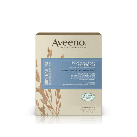 Aveeno Soothing Bath Treatment, 8 packets / 12 oz