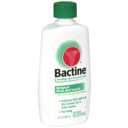 Bactine First Aid Antiseptic/Pain Reliever, Original First Aid Liquid, 4 oz