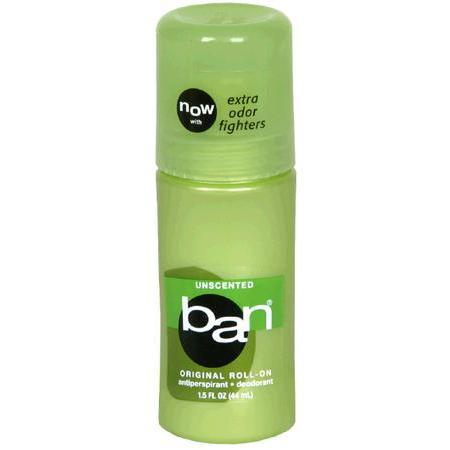 Ban Antiperspirant / Deodorant, Original Roll- On, Unscented, 1.5 oz