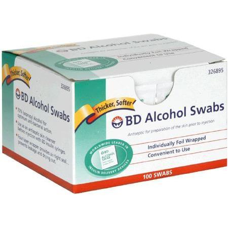 Becton-Dickinson Alcohol Swabs, 100 ea