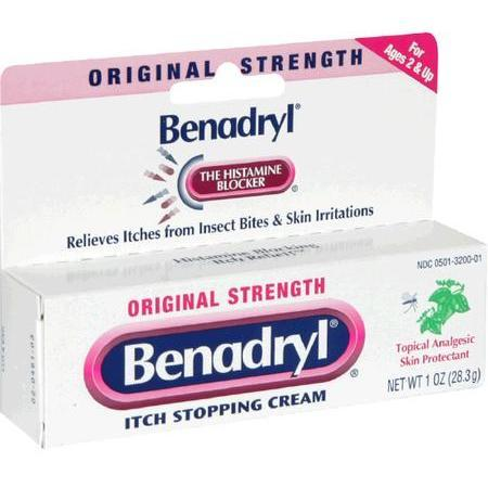 Benadryl Itch Stopping Cream, Original Strength, 1 oz