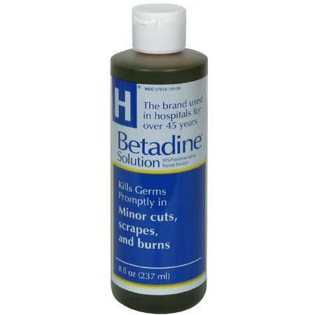 Betadine Solution, 8 oz