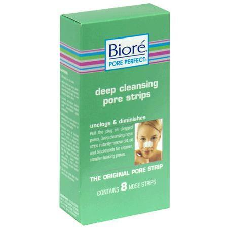 Biore Deep Cleansing Pore Strips, Nose Strips, 8 ea