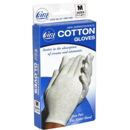 Cara Cotton Gloves, M, 1 ea