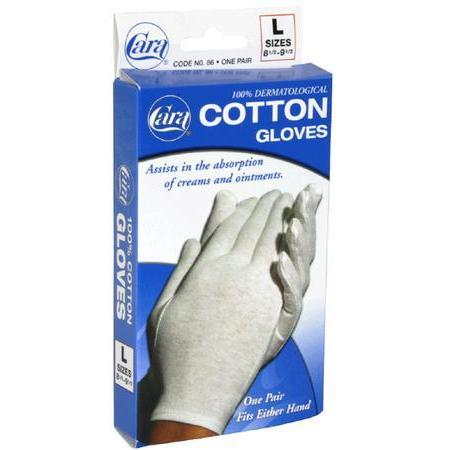 Cara Cotton Gloves, L, 1 ea