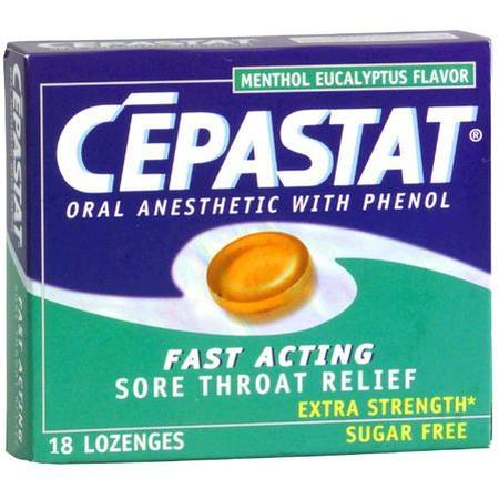Cepastat Oral Anesthetic Lozenges Eucalyptus, 18 ct