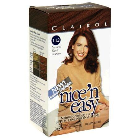 Nice'n Easy  with Built-In Highlights  Natural Dark Auburn  No. 112