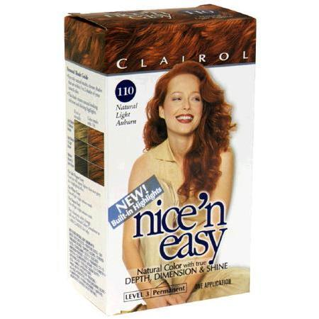 Nice'n Easy with Built-In Highlights Natural Light Auburn  No. 110