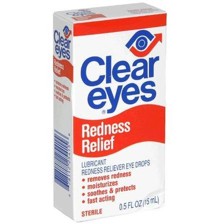 Clear Eyes Lubricant Redness Relief Eye Drops, 0.5 oz