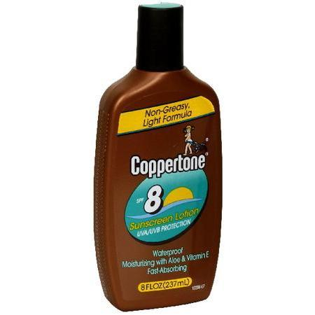 Coppertone Sunscreen Lotion, SPF 8, 8 oz