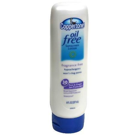 Coppertone Oil Free Sunscreen Lotion, SPF 30, 8 oz